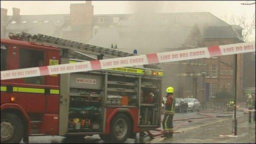Fire in Nottingham