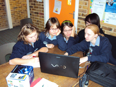 School Reporters at Rainham Girls School, Kent, during January's practice news day