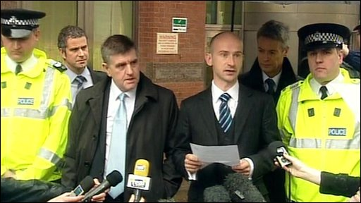South Yorkshire Police and Crown Prosecution Service give a statement outside Sheffield Crown Court