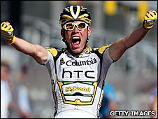 Mark Cavendish winning the final stage of the 2009 Tour de France