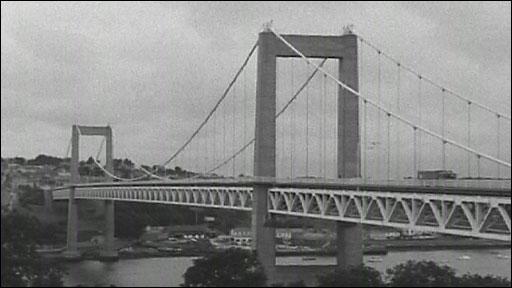 The Tamar Road Bridge in 1961