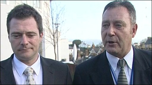 Det Con Mark Uren and Det Supt Steve Blair of Devon and Cornwall police