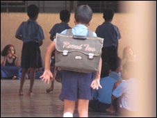 Pupil at Sharadashram Vidyamandir school