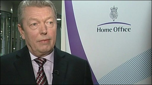 Home Secretary Alan Johnston