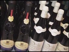 Wine bottles (generic image)