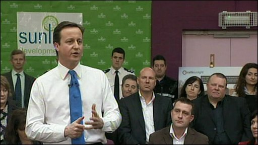 David Cameron giving a speech in Gillingham