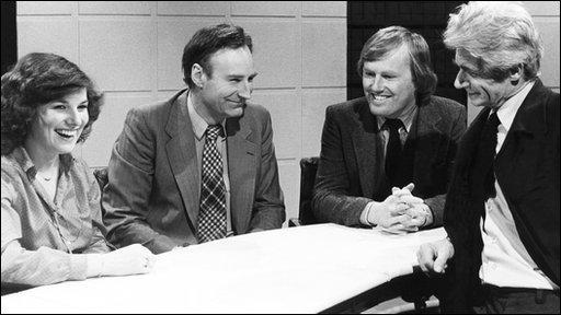 Fran Morrison, Peter Snow, David Davies, Charles Wheeler
