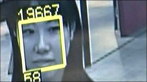 Face recognition technology in action