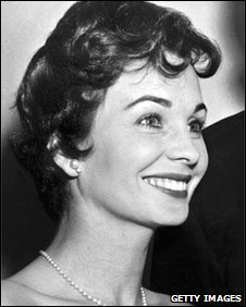 Jean Simmons during the 10th Annual Golden Globe Awards in Hollywood in 1956