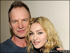 Sting and Madonna