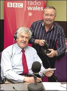 Rhodri Morgan as a radio presenter with Frank Hennessy