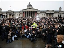 Photographers' protest in Trafalgar Square