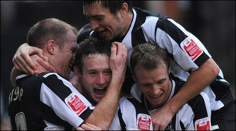 Notts County celebrate