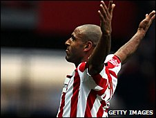 Wayne Thomas laps up the adulation after his wonder goal for Southampton