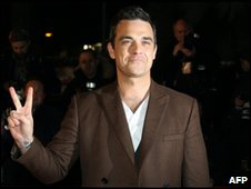 Robbie Williams at the NRJ Awards