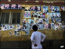 Afghan election posters in August 2009