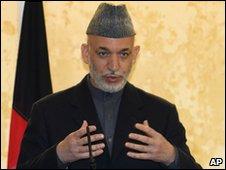 Hamid Karzai, file pic