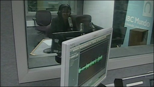 Studio where BBC Creole is broadcast
