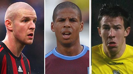 Philippe Senderos, Curtis Davies and Sean St Ledger