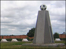 Zambia football monument to 18 players who lost their lives in the 1993 plane crash