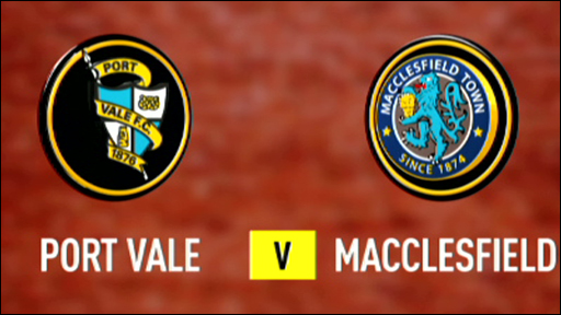 Port Vale 0-0 Macclesfield