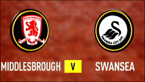 Middlesbrough 1-1 Swansea