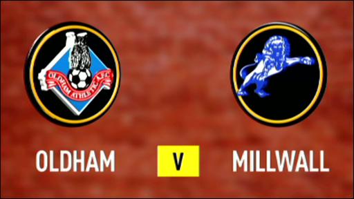 Oldham 0-1 Millwall