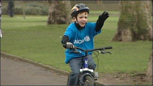 Charlie Simpson cycling for Haiti
