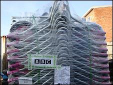 Wheelbarrows for Haiti tracked by the BBC