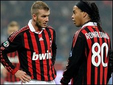 David Beckham and Ronaldinho