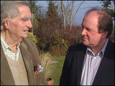 Denis Healey and James Naughtie