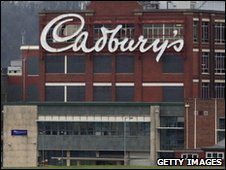 The Cadbury's logo is seen displayed outside the Somerdale plant in Keynsham