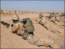 Royal Marines in southern Afghanistan