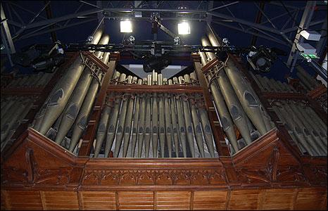 Organ pipes in Clifftown Studios
