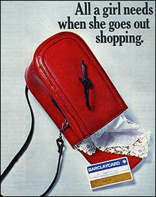 Barclaycard advert in the 1970s