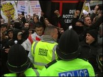 English Defence League rally