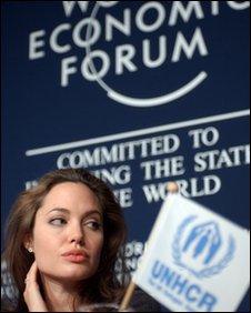Angelina Jolie in Davos