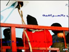 Broadcast by Iraq's state-run TV Al-Iraqiya showing what they say is the execution of Majid in Baghdad, 25 January 2010