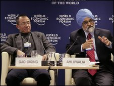 Gao Xiqing, People's Republic of China (l), Montek S. Ahluwalia, India