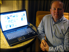 Blio Peter Chapman with Blio on computer screen