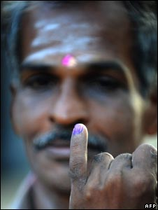 Tamil voter at a polling station in Vavuniya