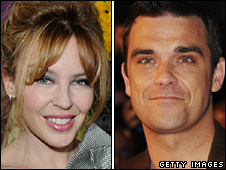 Kylie Minogue and Robbie Williams