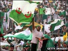 Algeria football fans