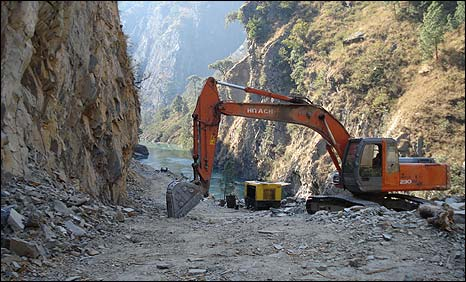 Work underway in the Nepal-China border road