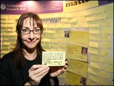 Pauline Mclynn, also known as Father Ted's Mrs Doyle, promoting Azheimer's Research Trust