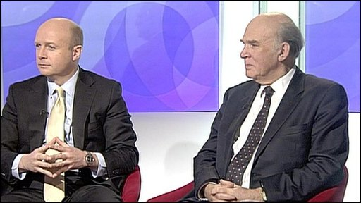 Liam Byrne and Vince Cable