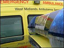 West Midlands Ambulance Service ambulance