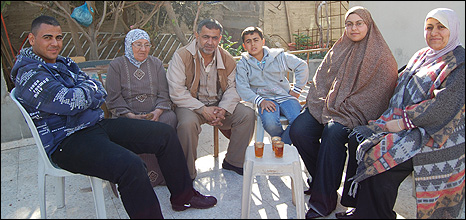 Musa Odeh [centre left] and family