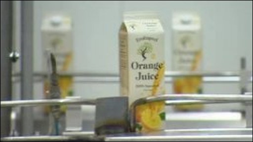 Orange juice factory production line