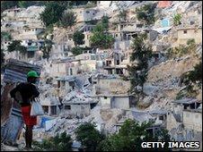 A shanty town in Port-au-Prince, Haiti (26 Jan 2010)